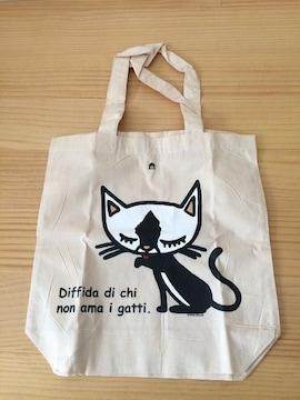 イタリア☆猫☆オーガニック☆トートバッグ☆新品☆