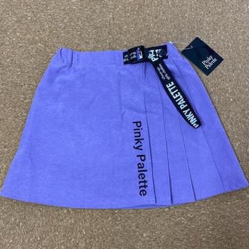 新品タグ付き140インナー付きスカート あったか生地 ラベンダー