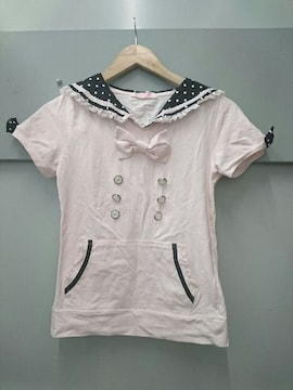 TRALALA☆セーラー襟半袖トップス