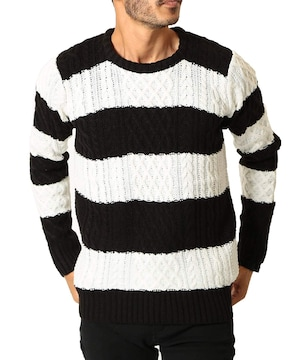 ニット セーター メンズ ニット 厚手 長袖  防寒 W