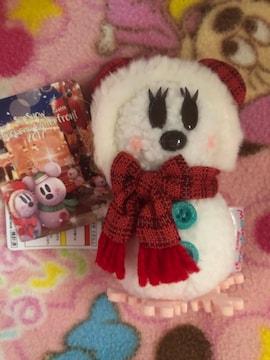 ディズニー クリスマス ぬいぐるみバッジ ミニー スノースノー