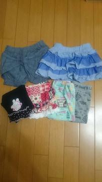 子供服(女の子)95〜サイズ☆まとめ売り/夏物ボトムス6点