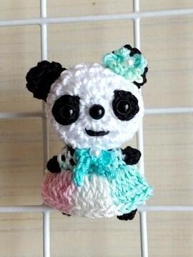 パンダちゃん編みぐるみマグネット