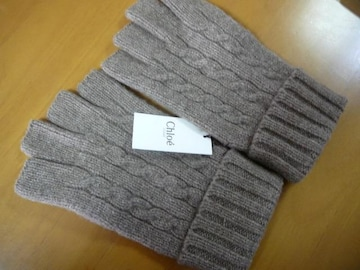 Chloeクロエオムウール100%ニット手袋指出しタイプ