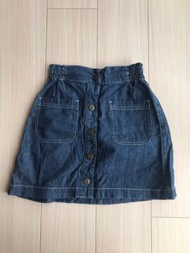 美品 3can4on サンカンシオン デニムスカート 150