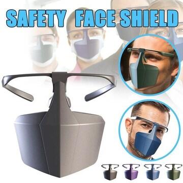 ネイビー 1個 プラスチックマスク 保護 シールド