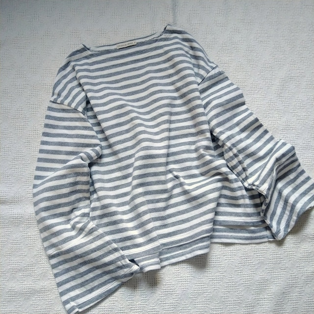 liflattie ships/袖口ベル袖のマリンボーダーカットソー