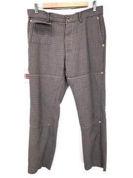 ALLEGE(アレッジ)Double-knee check pantsスラックスパンツ
