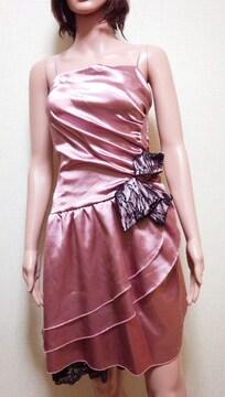 新同ageha☆光沢ティアード&リボンレースのドレス☆3点で即落☆