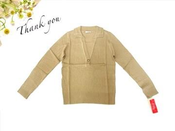 新品 GIVORS 襟付き 長袖 ニット セーター  M 9号
