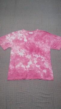 ナチュラル ヴィンテージ/Tシャツ/ピンク×ホワイト/タイダイ/アジアンエスニック