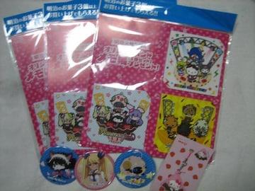 明治×サンリオ オリジナルバンド メモ帳3冊セット/缶バッジ/ストラップ