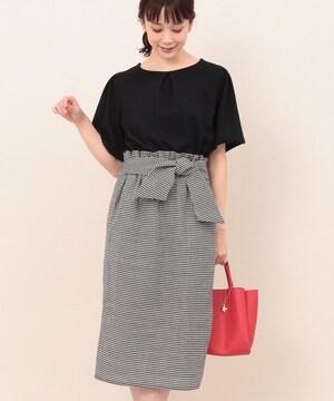 新品☆ViS(ヴィス・ビス)ツイードチェックドッキングワンピース☆