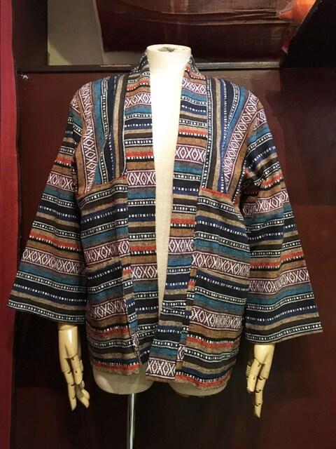 織り柄羽織り★エスニック★ヒッピー★アジアン★サイケ★  < 女性ファッションの