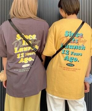 新品!!WEGOウィゴー グラフィックバックプリントBIGTシャツ黄