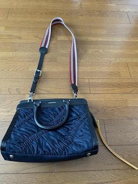 27500円◆ディーゼル◆2WAYデニムシャーリングバッグ