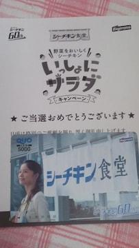 ☆はごろもフーズオリジナルクオカード5千円分*宮崎あおいサン当選品
