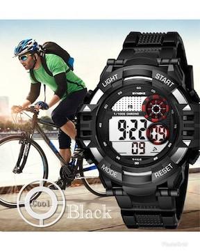 スポーツ腕時計 LED デジタル 時計 防水 ミリタリー ブラック
