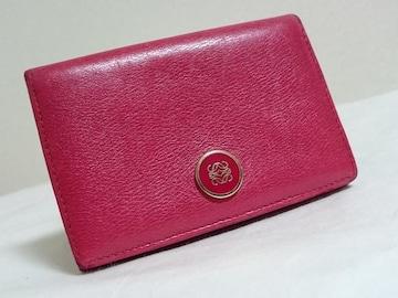 正規 ロエベLOEWE アマソナ アナグラムロゴ レザーカードケース赤 名刺入れ パスケース