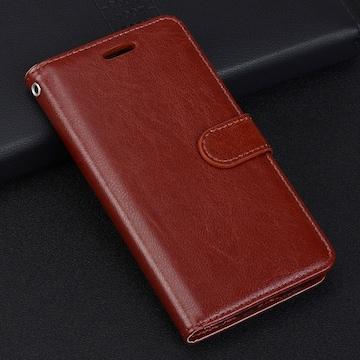 iPhoneXR 手帳型ケース レザー フィルム 携帯ケース ブラウン