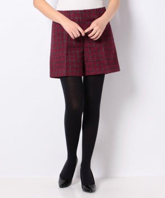 UNTITLED ブライトモールジャガードショートパンツ レッド < 女性ファッションの