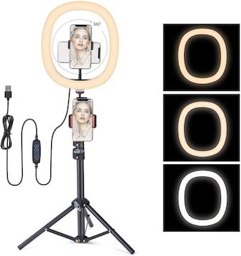 LEDリングライト撮影用12インチ 3色