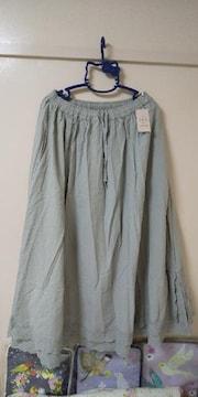 サマンサモスモス♪裾2段レーススカート未使用品