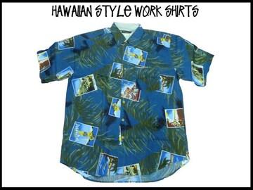新品ビッグサイズ・ハワイアンスタイルS/S半袖シャツ (4XL)#234