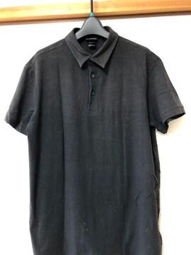 送料無料 H&M 黒メンズシャツ Lサイズ メンズトップス