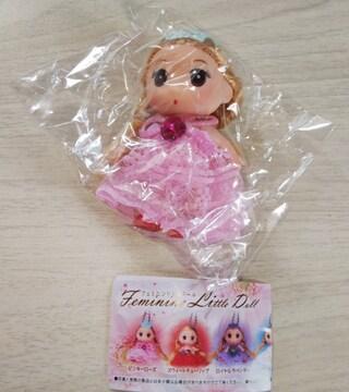 フェミニンリトルドールピンキーローズガチャガチャボールチェーン人形