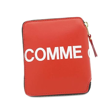 ★コムデギャルソン HUGE LOGO 2つ折財布(RED)SA2100HL★新品本物★