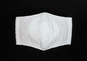 即決◆白花オーナメントレース×アイスブルー下地◆ファッションマスク