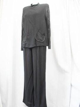 【エンリコドマーニ】黒カットソー&パンツのツーピースです