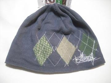 mb429 男 BILLABONG ビラボン ニット帽 ビーニー チャコール