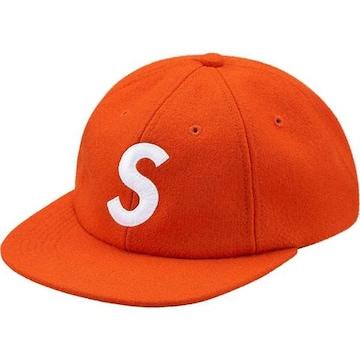 Supreme Wool S Logo 6-Panel Cap Orange 17aw キャップ