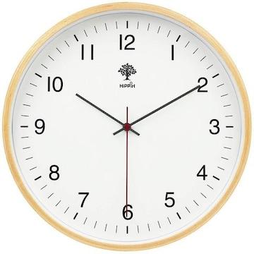 インテリア 掛け時計 アナログ 木製 コンパクト 01A