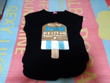 全品送料無料!JENNIアイスクリームロゴ半袖Tシャツ160ブラック