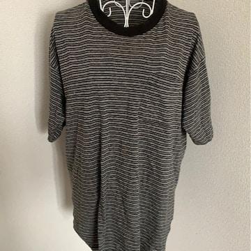 黒★ボーダー☆カジュアル★Tシャツ★サイズL