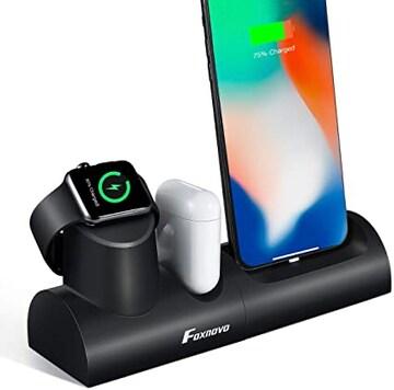 サイズ1 Foxnovo Apple Watch スタンド iPhone スタンド Airpods