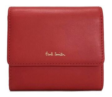 未使用正規ポールスミス財布Wホック両面財布PWD204レッドク