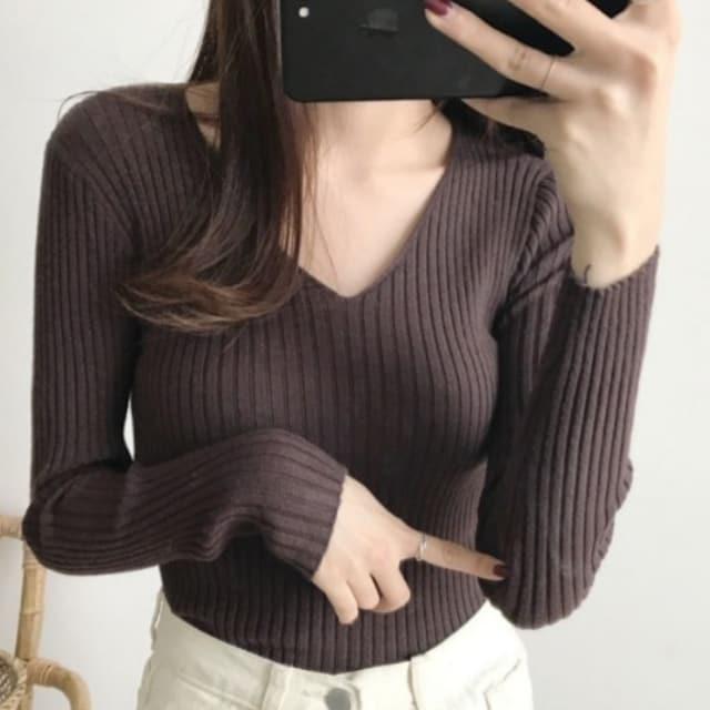 L.LLXL/新品☆シンプル薄手ニットソー125 < 女性ファッションの