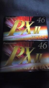 パナソニック カセットテープPX�U 46分 2本セット