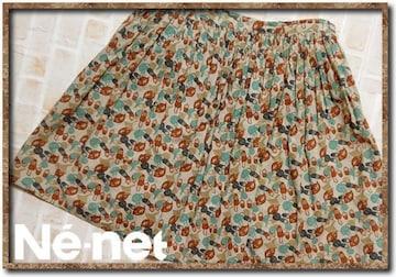 ネネット ペチコート付きプリーツスカート