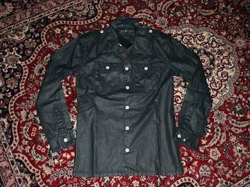 新品NOIDノーアイディー加工シャツジャケット黒2シェラックROEN