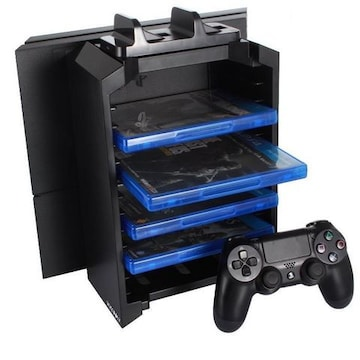 PS4多機能縦置きスタンド ソフト収納型