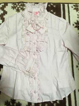 Angelic Pretty☆パールリボンフリルブラウス☆ピンク☆立て襟