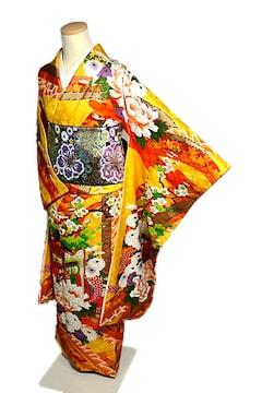 【最高級】新品同様 金彩 金駒刺繍 豪華振袖 T1936
