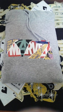 Marvelパーカー�苫ーベル