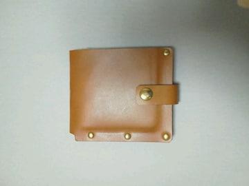 新品 / ハンドメイド シンプルな札だけの二つ折り財布 !