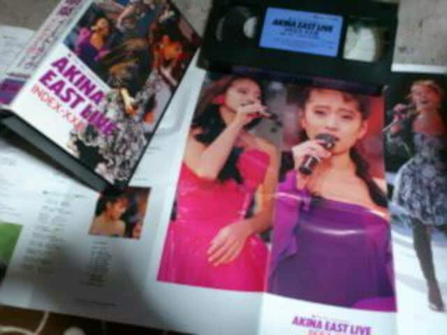 VHS『AKINA EAST LIVE』中森明菜 1989 < タレントグッズの